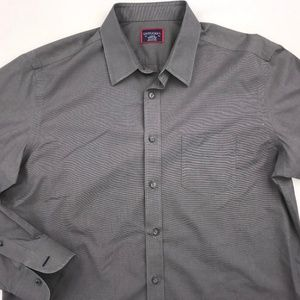 UNTUCKIT LONG SLEEVE BUTTON DOWN SHIRT LARGE GRAY